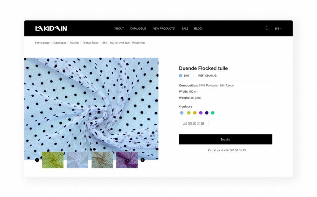 Lakidain Product Catalogue